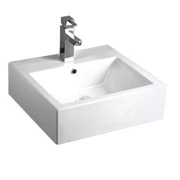 Whitehaus Isabella Square Wall Mount Lavatory Sink