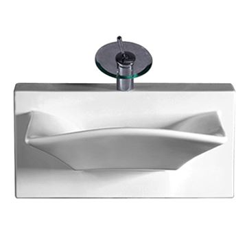 Whitehaus Isabella Wall Mount Basin With Rectangle Bowl Lavatory Sink
