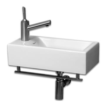 Whitehaus Isabella Wall Mount Lavatory Basin Sink With Towel Bar
