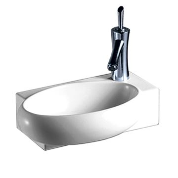 Whitehaus Isabella Wall Mount Rectangle Lavatory Sink With Oval Bowl