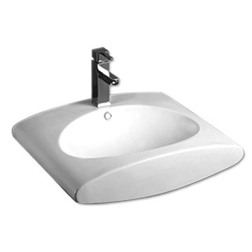 Whitehaus Isabella Wall Mount Rectangle Lavatory Sink
