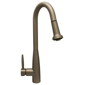 Whitehaus Jem Single Hole Kitchen Faucet with Pull Down Sprayer