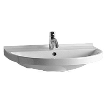 Whitehaus Large U-Shaped China Wall Mount Basin Lavatory Sink