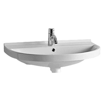 Whitehaus Large U-Shaped Wall Mount China Lavatory Basin Sink