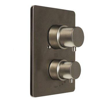Whitehaus Luxe Square Thermostatic Shower Valve With Short Lever Handles