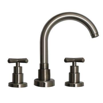 Whitehaus Luxe Widespread Gooseneck Lavatory Faucet - Cross