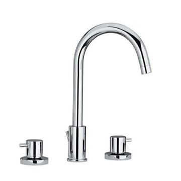 Whitehaus Luxe Widespread Gooseneck Lavatory Faucet