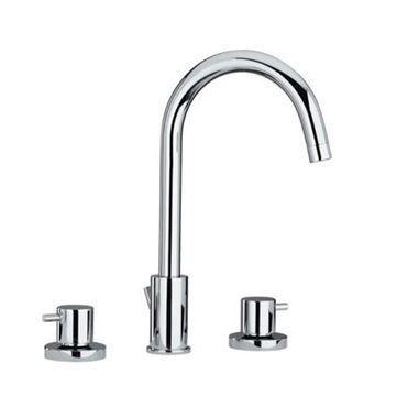 Whitehaus Luxe Widespread Gooseneck Lavatory Faucet