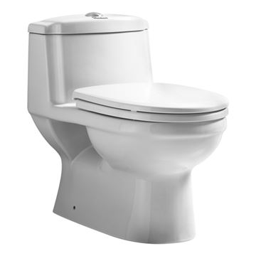 Whitehaus Magic Flush One Piece Dual Flush Toilet - Elongated Bowl