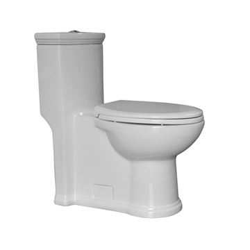 Whitehaus Magic Flush One Piece Siphonic Action Dual Flush Toilet