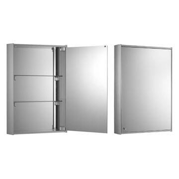 Whitehaus Medicinehaus Single Door Aluminum Medicine Cabinet