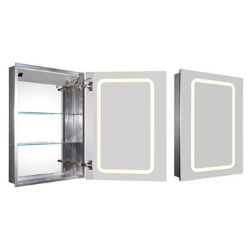 Whitehaus Medicinehaus Single Door Recessed Light Up Medicine Cabinet