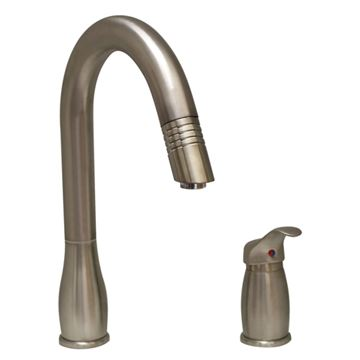 Whitehaus Metrohaus Two Hole Kitchen Faucet with Pull Down Sprayer