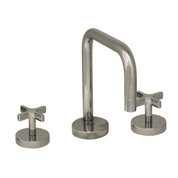 Whitehaus Metrohaus Widespread Lavatory Faucet - Cross