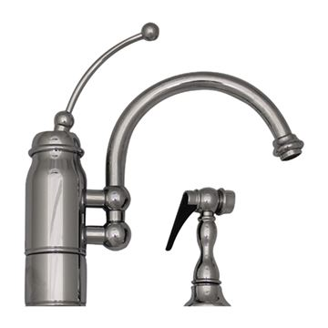Whitehaus New Horizon Single Hole Kitchen Faucet with Sprayer