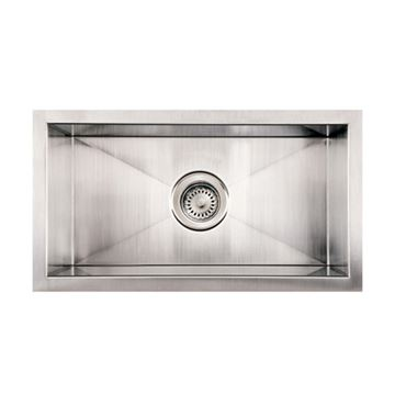 Whitehaus Noah 12 Inch Stainless Single Bowl Bar Prep Or Wine Sink