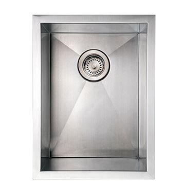 Whitehaus Noah 15 Inch Stainless Single Bowl Undermount Kitchen Sink