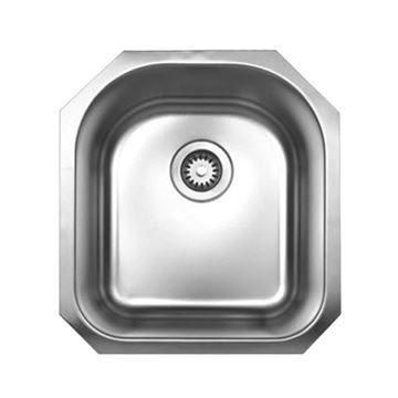 Whitehaus Noah 18 1/8 Inch Stainless Undermount D-Bowl Kitchen Sink