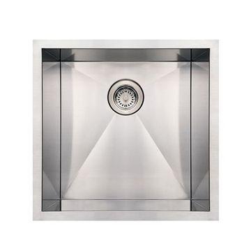 Whitehaus Noah 19 Inch Stainless Single Bowl Undermount Kitchen Sink