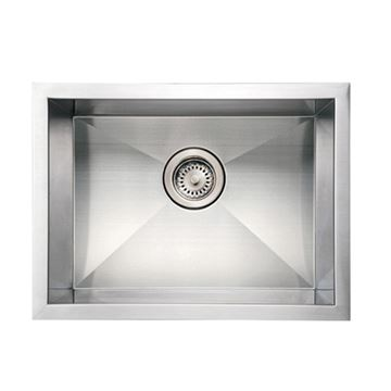 Whitehaus Noah 20 Inch Stainless Single Bowl Undermount Kitchen Sink