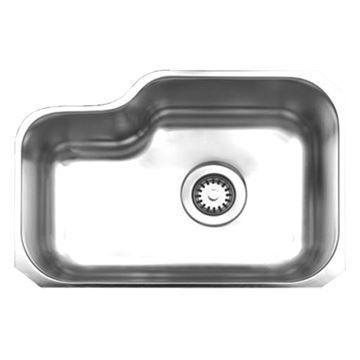 Whitehaus Noah 21 7/8 Inch Stainless Single Bowl Undermount Kitchen Sink