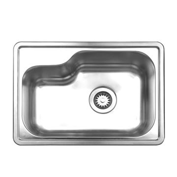 Whitehaus Noah 22 1/2 Inch Stainless Single Bowl Drop In Kitchen Sink