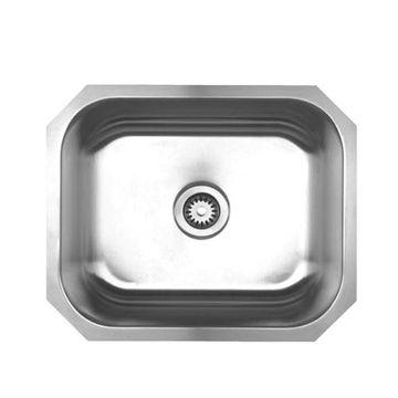 Whitehaus Noah 22 1/4 Inch Stainless Single Bowl Undermount Kitchen Sink