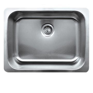 Whitehaus Noah 25 1/4 Inch Stainless Single Bowl Undermount Kitchen Sink