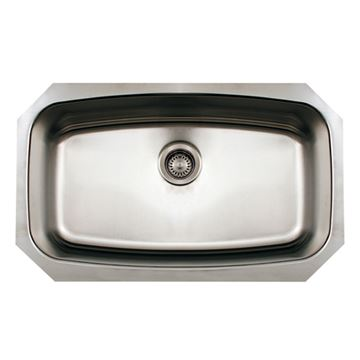 Whitehaus Noah 29 1/2 Inch Stainless Single Bowl Drop In Kitchen Sink