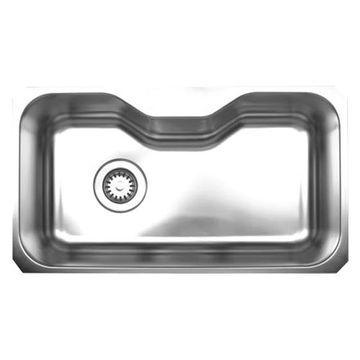 Whitehaus Noah 32 1/8 Inch Stainless Center Cut Out Undermount Kitchen Sink