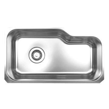 Whitehaus Noah 32 1/8 Inch Stainless Offset Cut Out Undermount Kitchen Sink