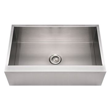 Whitehaus Noah 33 Inch Stainless Apron Front Single Bowl Kitchen Sink