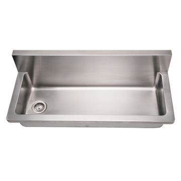 Whitehaus Noah 44 Inch Stainless Single Bowl Wall Mount Utility Sink