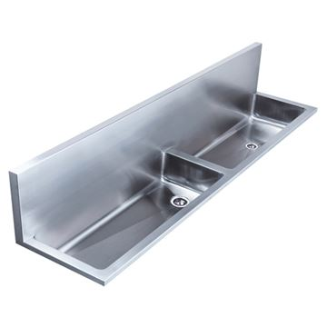 Whitehaus Noah 72 Inch Double Bowl Wall Mount Utility Sink