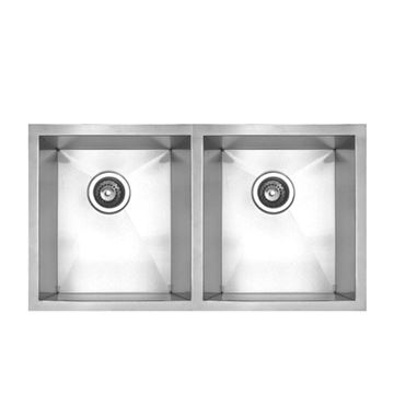 Whitehaus Noah Chefhaus 29 1/2 Inch Double Bowl Undermount Kitchen Sink