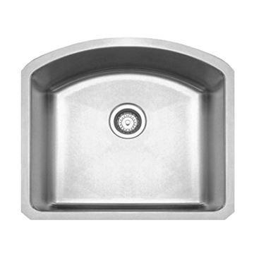 Whitehaus Noah Chefhaus Curved Single Bowl Undermount Kitchen Sink