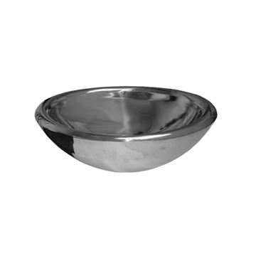 Whitehaus Noah Mirrored Stainless Round Vessel Sink