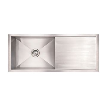 Whitehaus Noah Reversible Undermount Kitchen Sink With Drainboard