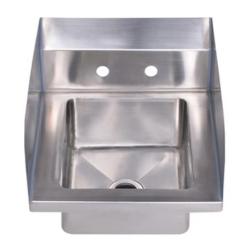 Whitehaus Noah Single Bowl Stainless Steel Utility Sink - Side Guards