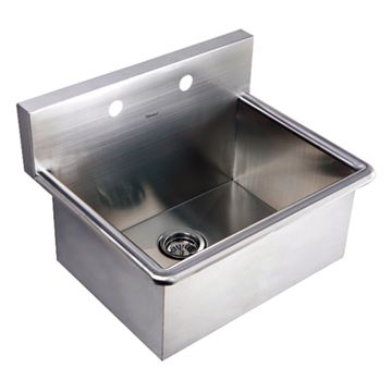 Whitehaus Noah Stainless Steel Commercial Drop In Or Wall Mount Utility Sink