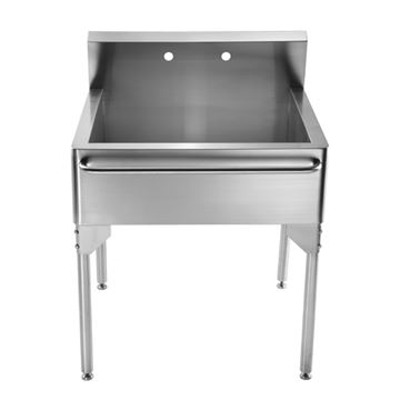 Whitehaus Pearlhaus 30 Inch Freestanding Utility Sink With Towel Bar