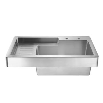 whitehaus pearlhaus 33 inch drop in utility sink with drainboard - Kitchen Sinks For Sale