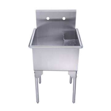 Whitehaus Pearlhaus Stainless Steel Commercial Freestanding Utility Sink