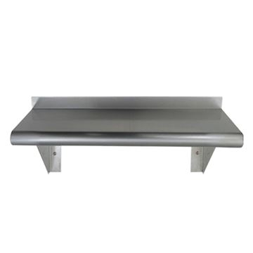 Whitehaus Pre-Assembled Stainless Steel Culinary Bull Nose Shelf