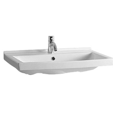 Whitehaus Rectangular Wall Mount China Lavatory Basin Sink
