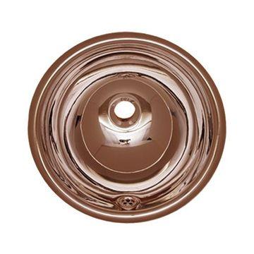 Whitehaus Smooth Copper Round Drop In Lavatory Sink