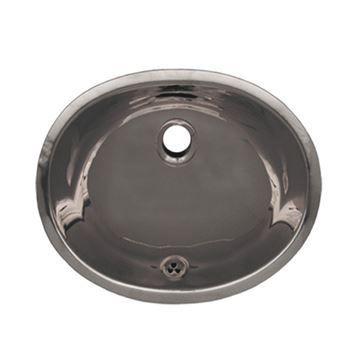 Whitehaus Smooth Oval Stainless Steel Undermount Lavatory Sink