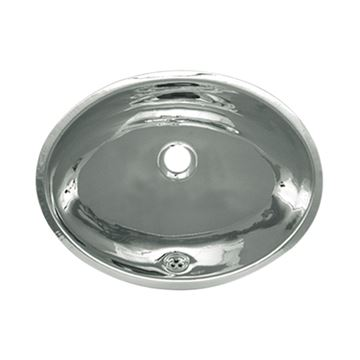 Whitehaus Smooth Stainless Steel Oval Drop In Lavatory Sink