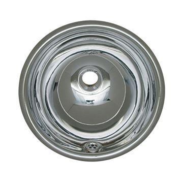 Whitehaus Smooth Stainless Steel Round Drop In Lavatory Sink