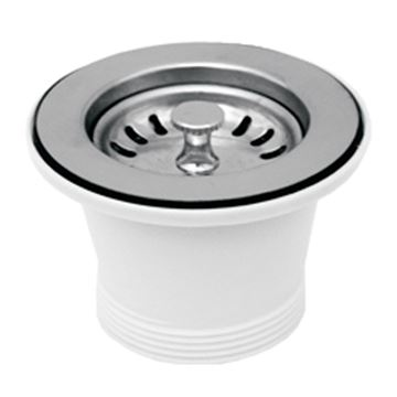 Whitehaus Stainless Steel 2 Inch Basket Strainer Drain